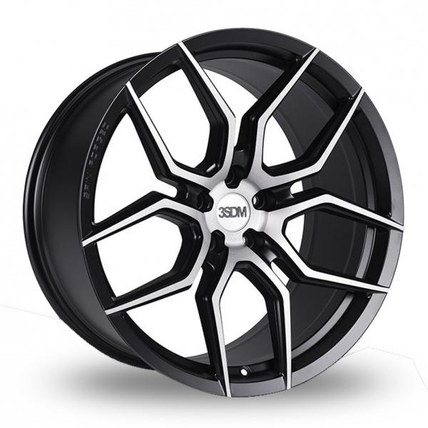 20 Inch 3SDM 0.50 Black Polished Alloy Wheels