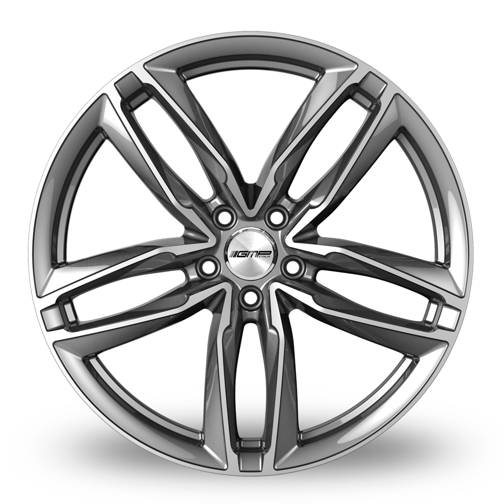9x21 (Front) & 10x21 (Rear) GMP Italia Atom Anthracite Polished Alloy Wheels