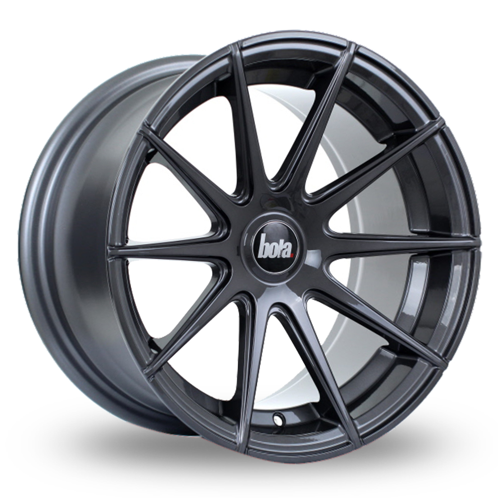 "19"" Bola CSR Gloss Gunmetal Wider Rear Alloy Wheels"