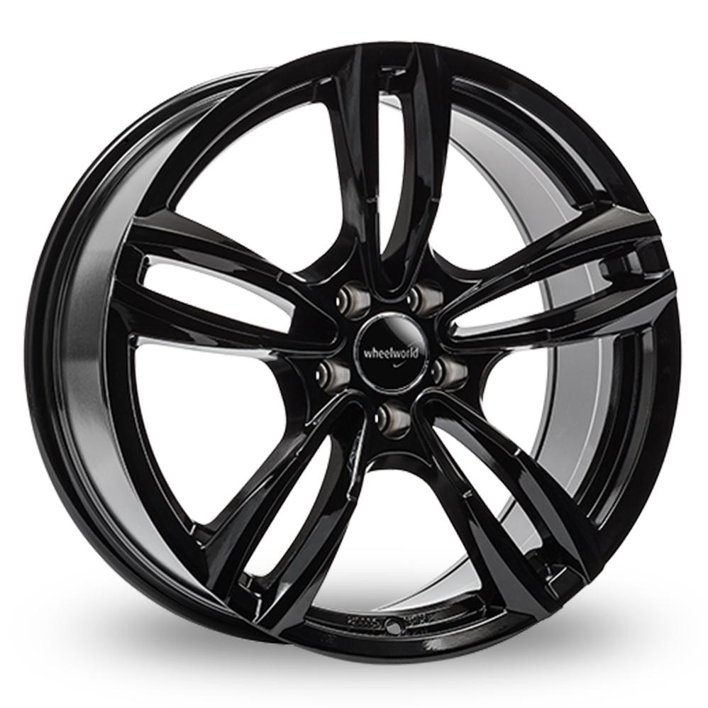"18"" Wheelworld WH29 Gloss Black Alloy Wheels"