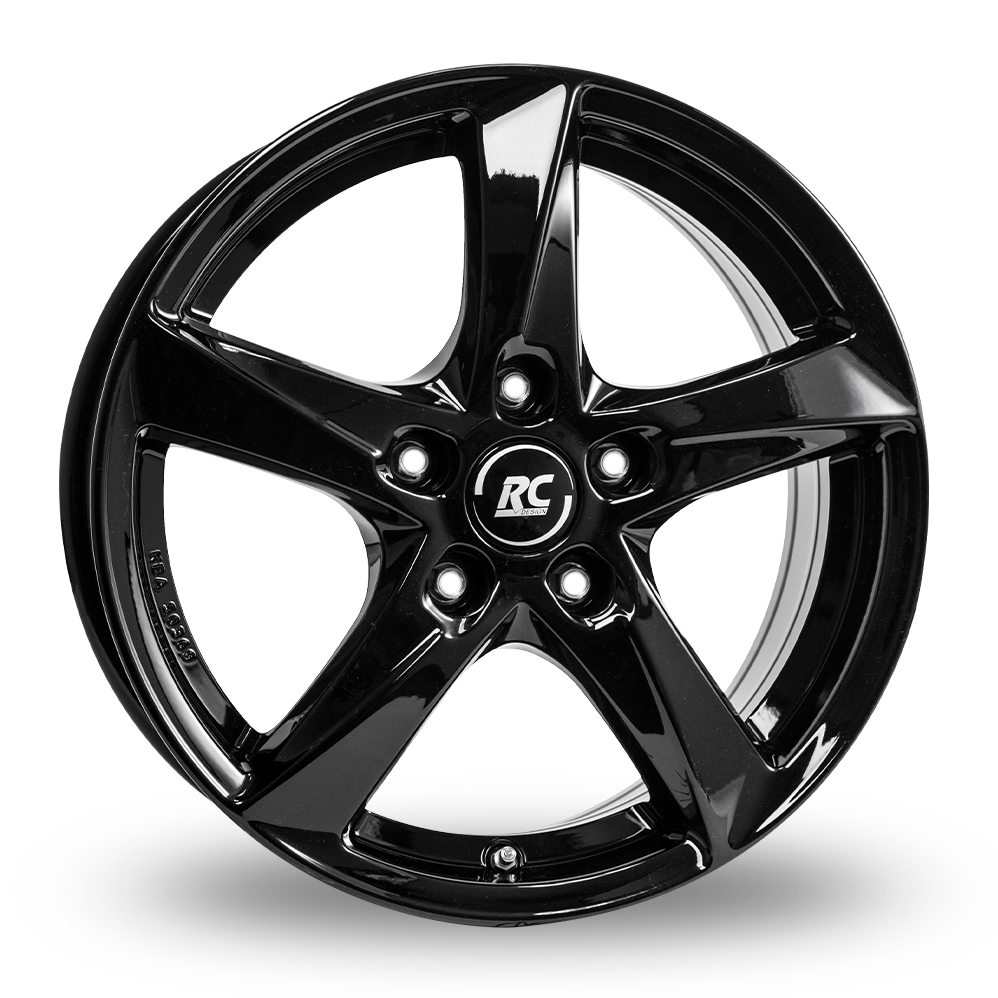 "15"" RC Design RC30 Gloss Black Alloy Wheels"