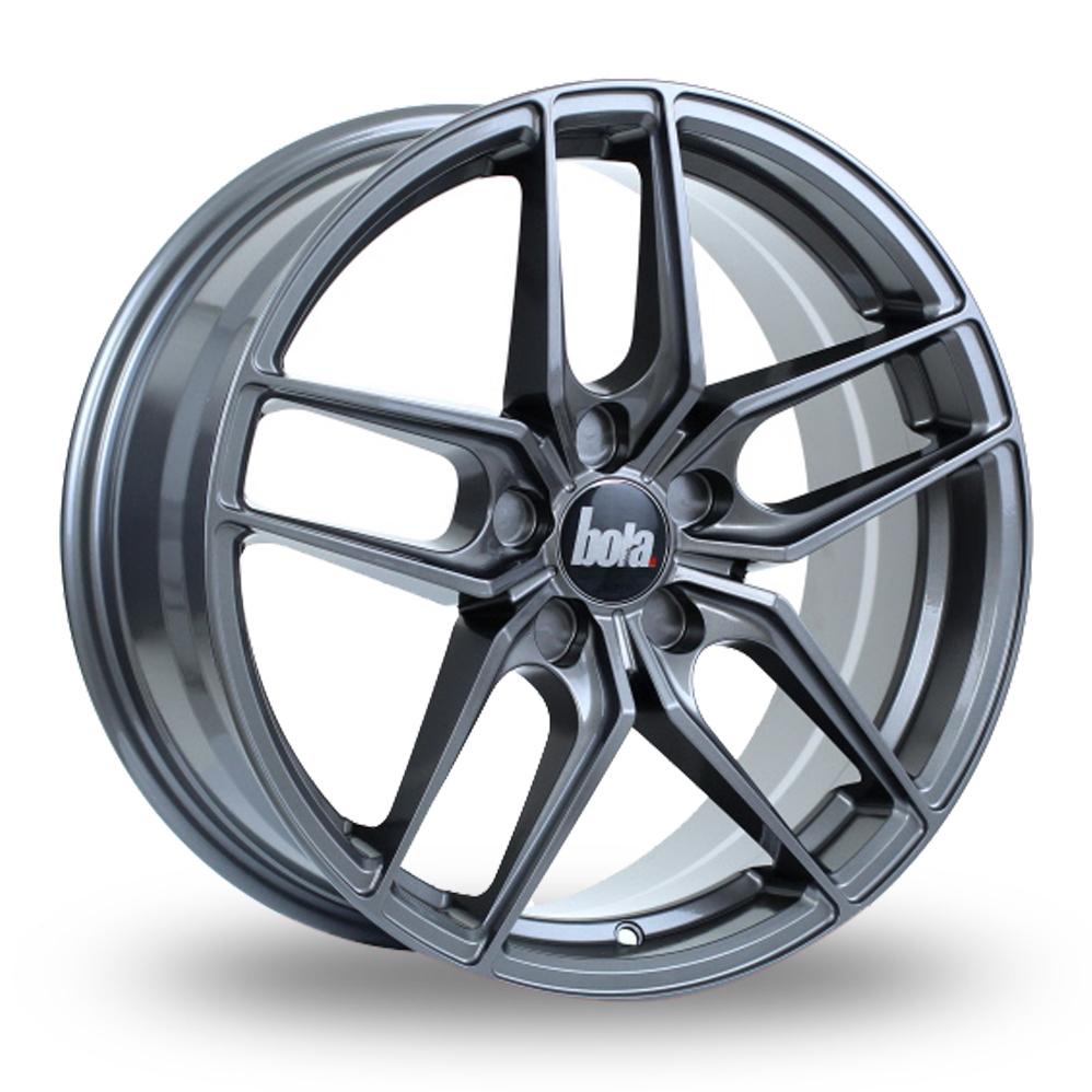 """20"""" Bola B11 Gloss Gunmetal Wider Rear Alloy Wheels"""