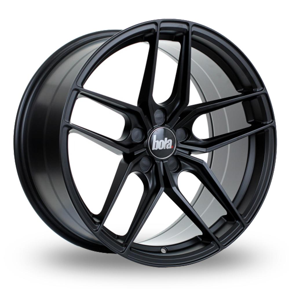 """20"""" Bola B11 Matt Black Wider Rear Alloy Wheels"""