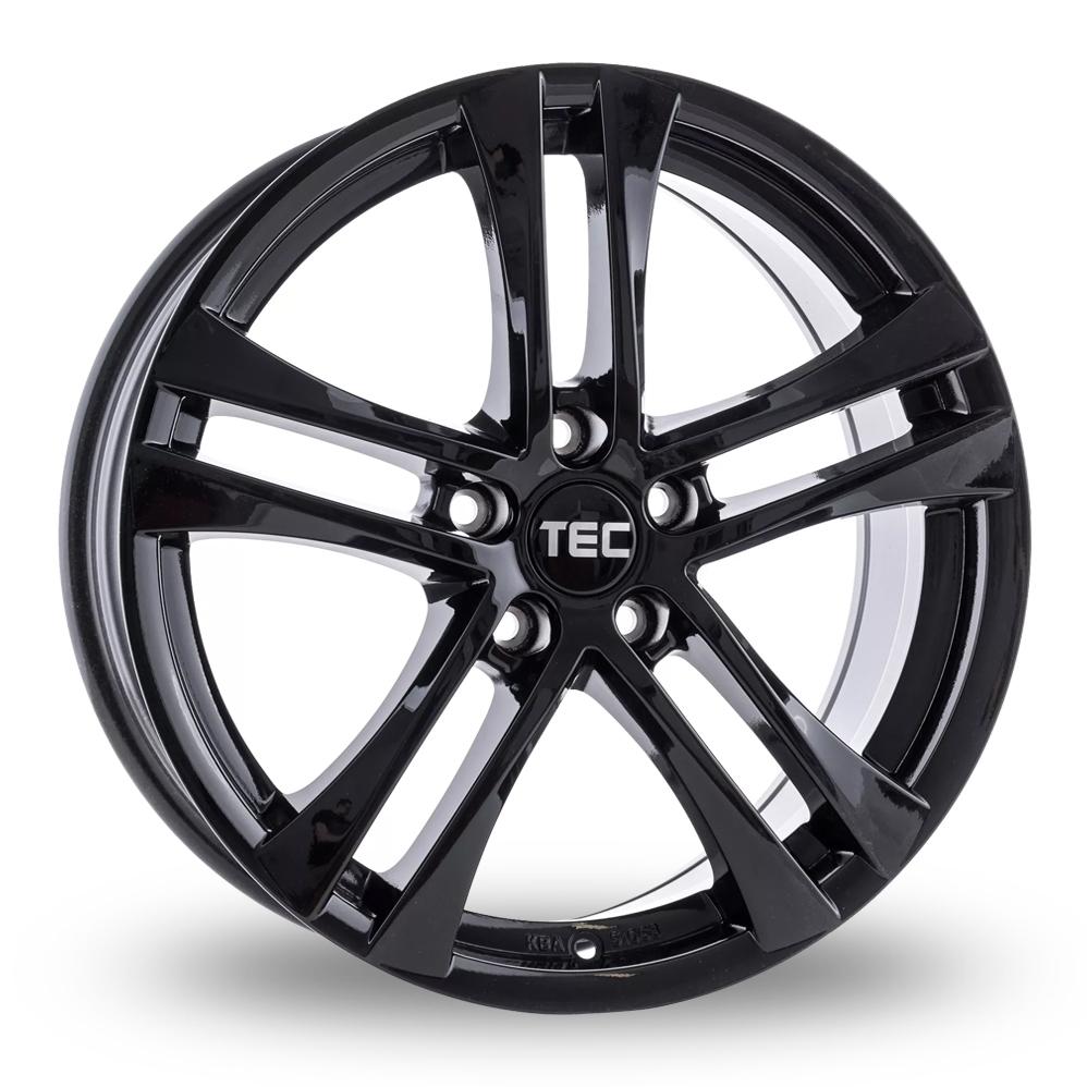 "16"" TEC Speedwheels AS4 Gloss Black Alloy Wheels"