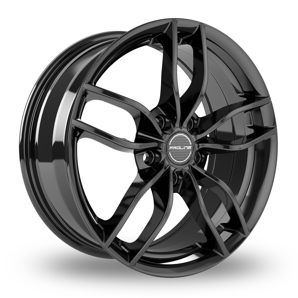 "15"" Proline ZX100 Black Glossy Alloy Wheels"