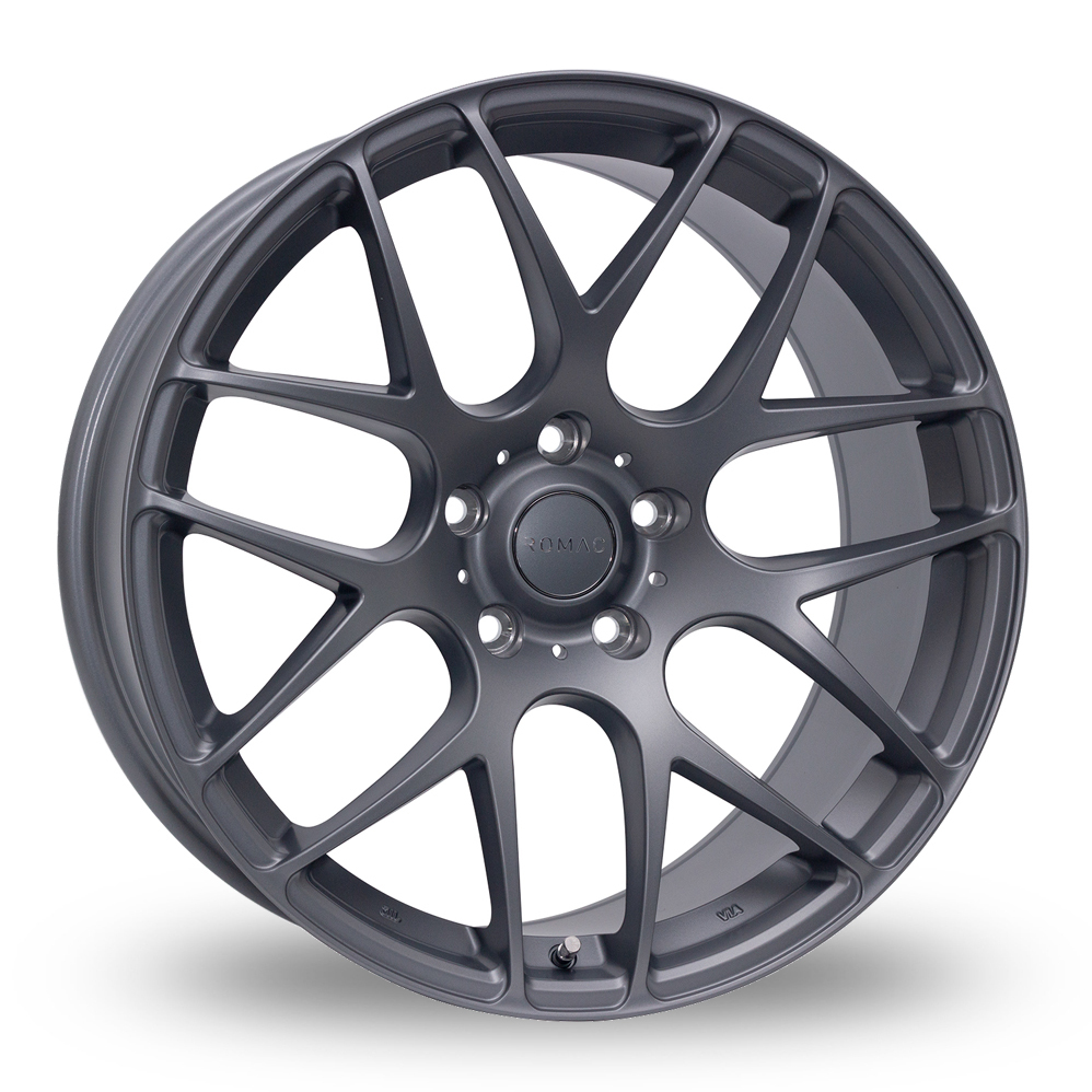 "19"" Romac Radium Matt Grey Wider Rear Alloy Wheels"