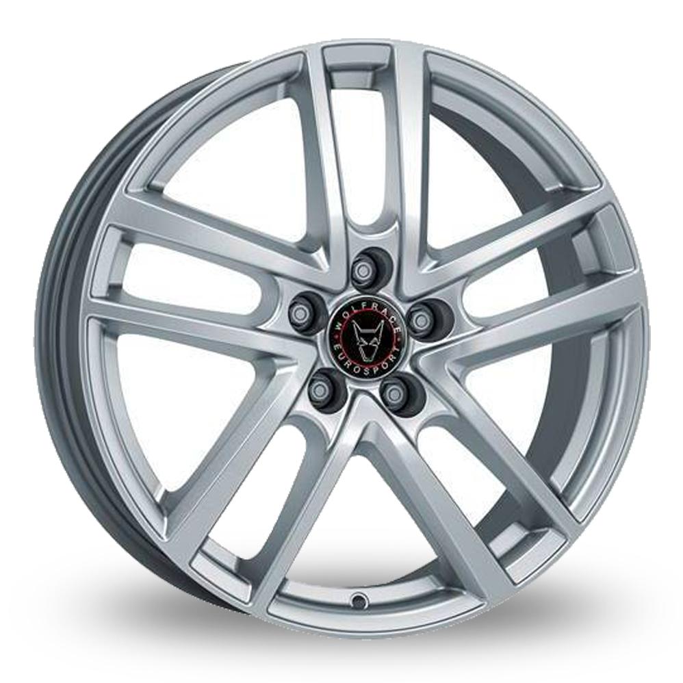 18 Inch Wolfrace Astorga Silver Alloy Wheels