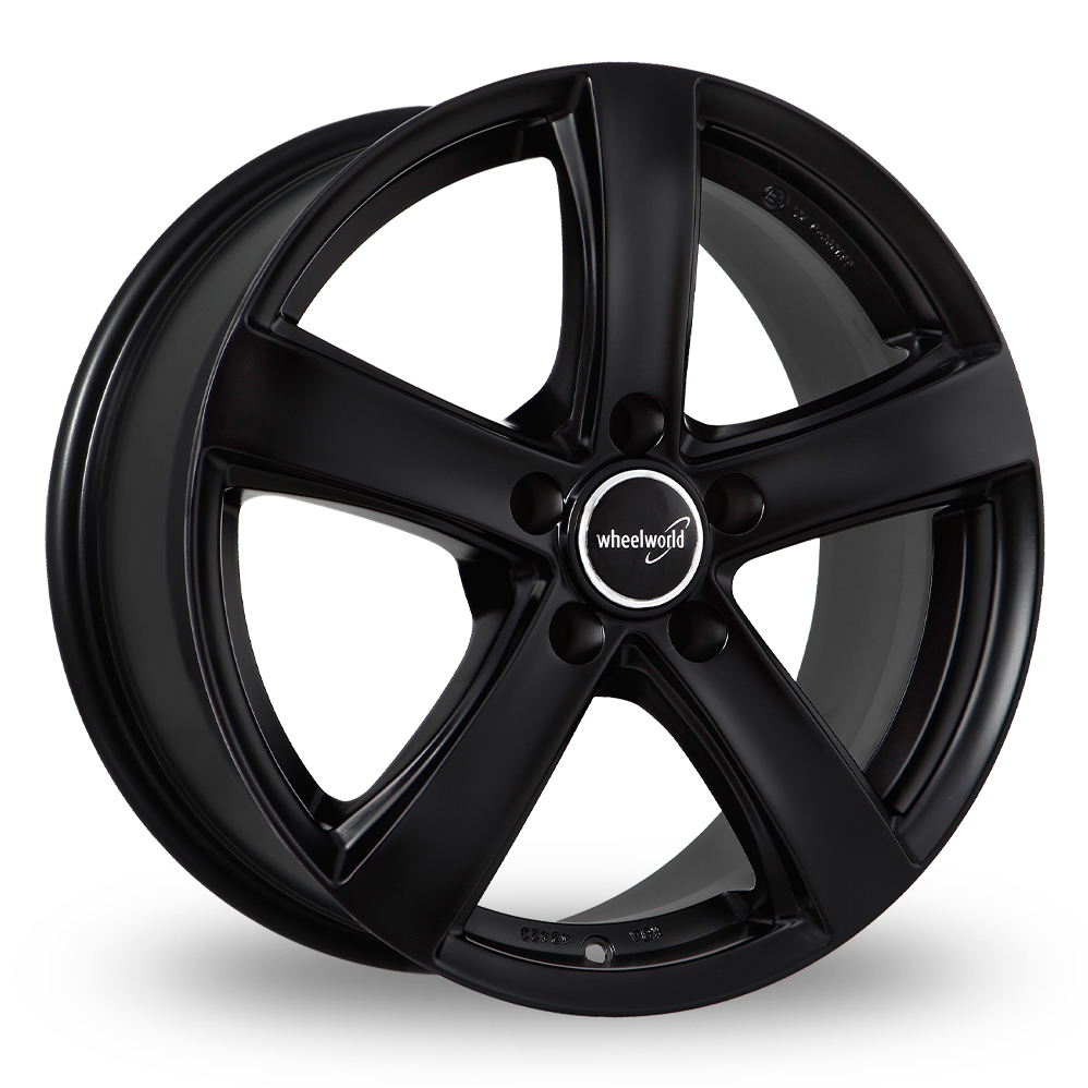 16 Inch Wheelworld WH24 Matt Black Alloy Wheels