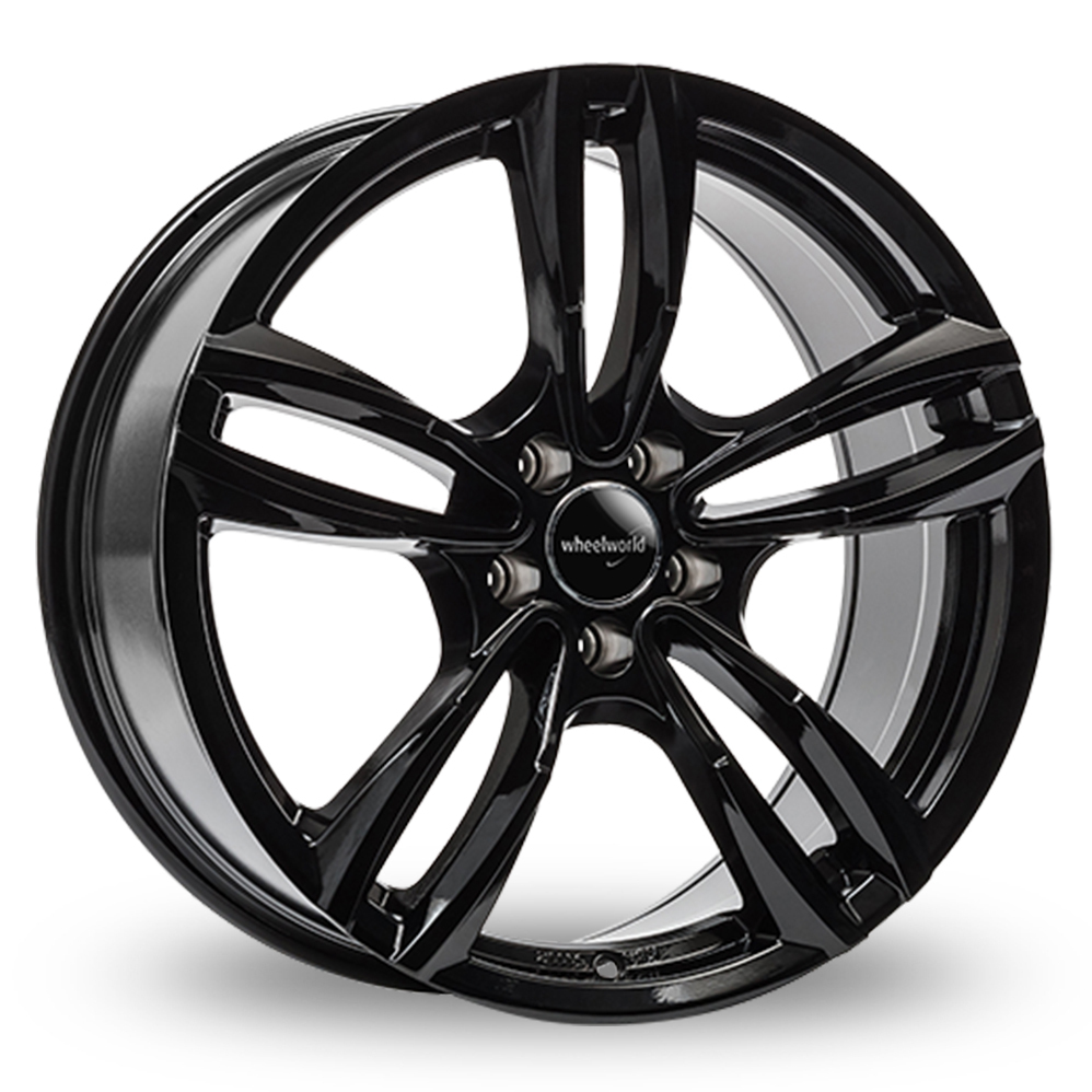 17 Inch Wheelworld WH29 Gloss Black Alloy Wheels