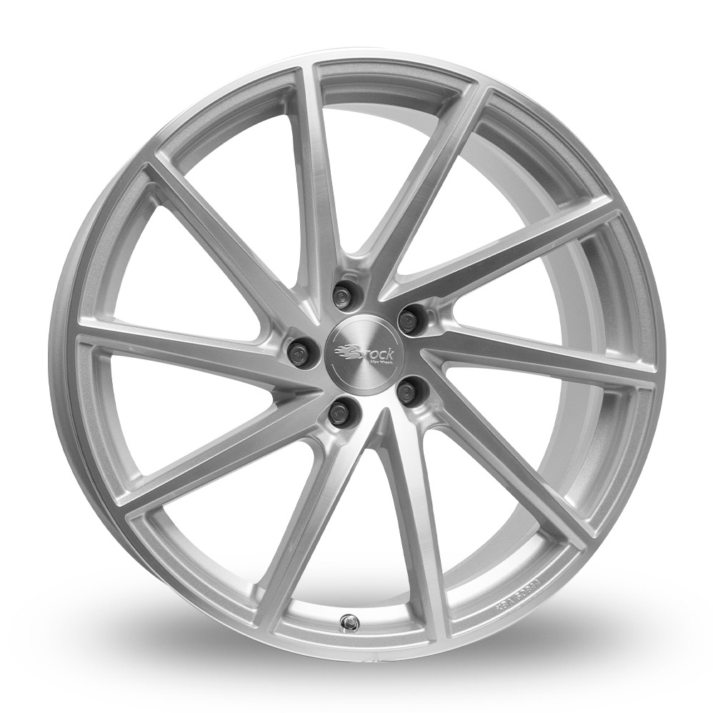19 Inch Brock B37 Silver Polished Alloy Wheels