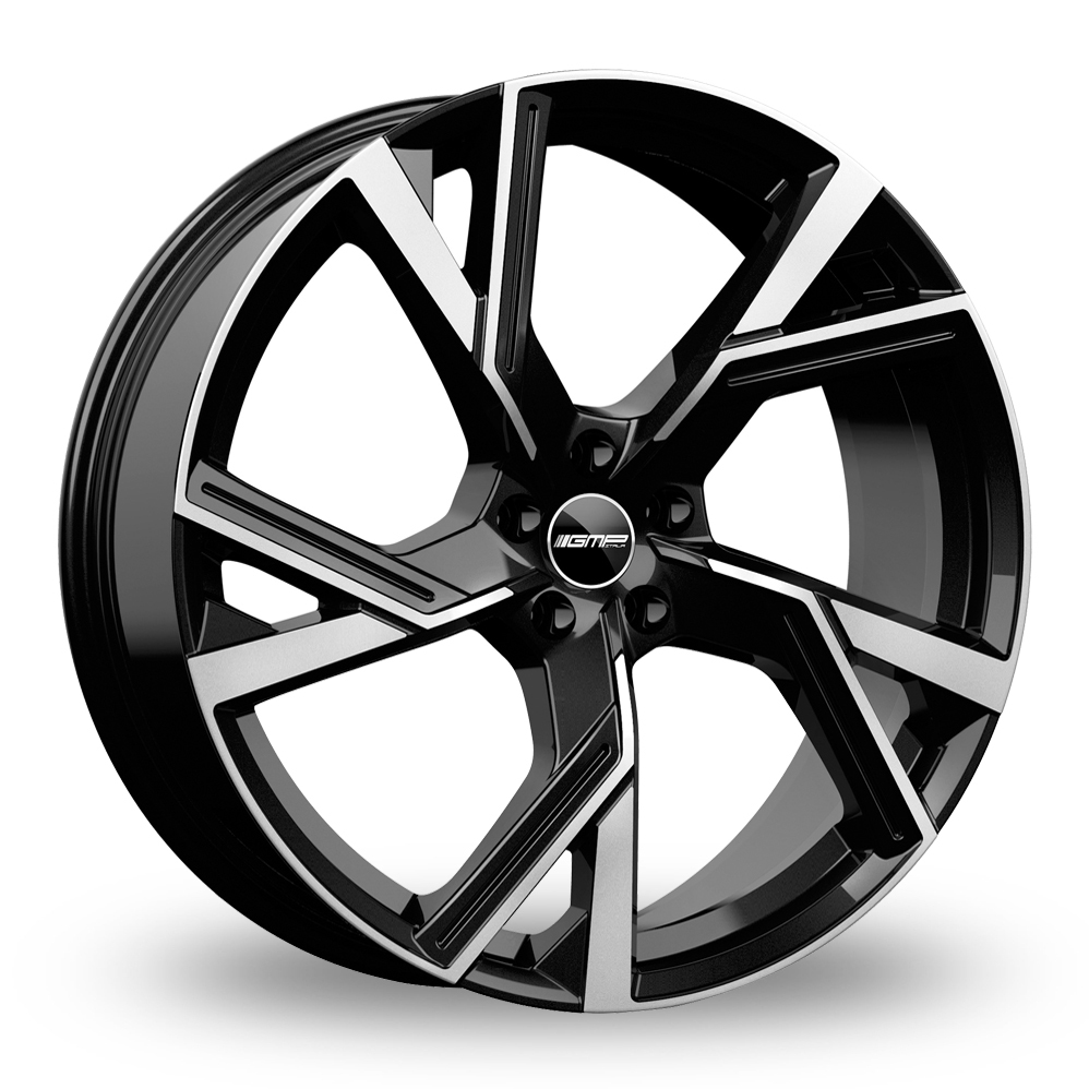 "19"" GMP Italia Angel Black/Polished Alloy Wheels"