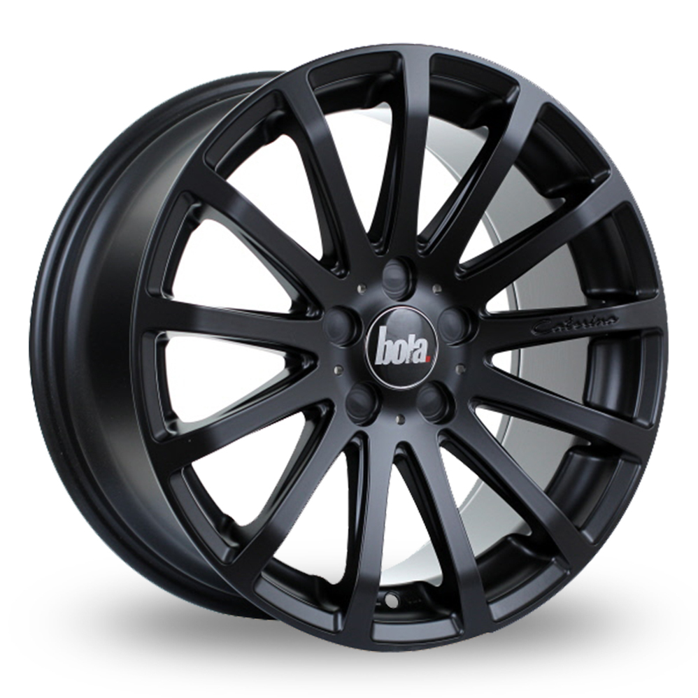 8.5x20 (Front) & 9.5x20 (Rear) Bola XTR Matt Black Alloy Wheels