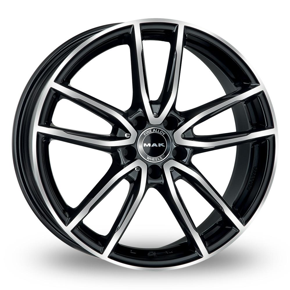 21 Inch MAK Evo Black Mirror Alloy Wheels