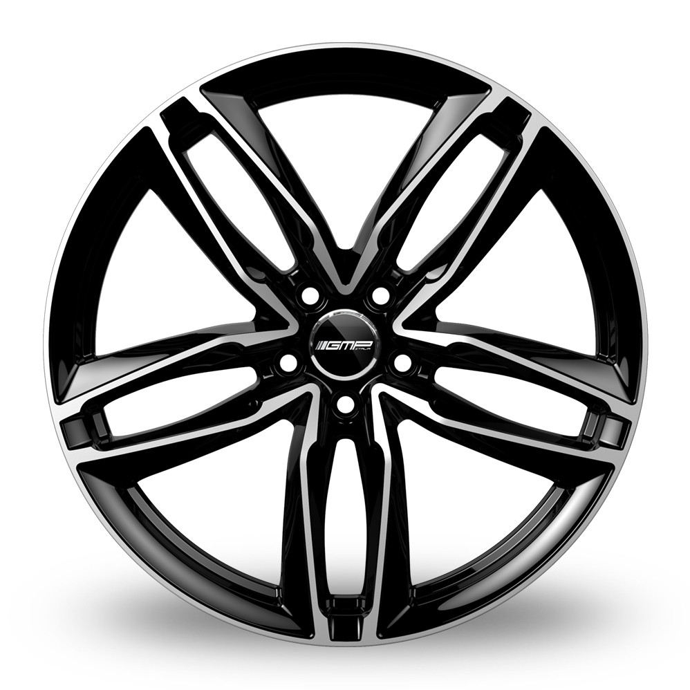 18 Inch GMP Italia Atom Black Polished Alloy Wheels
