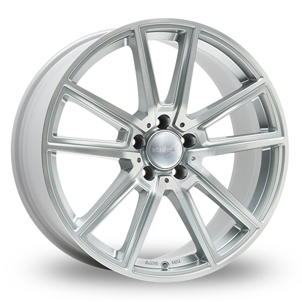 """17"""" Wheelworld WH30 Silver Polished Alloy Wheels"""