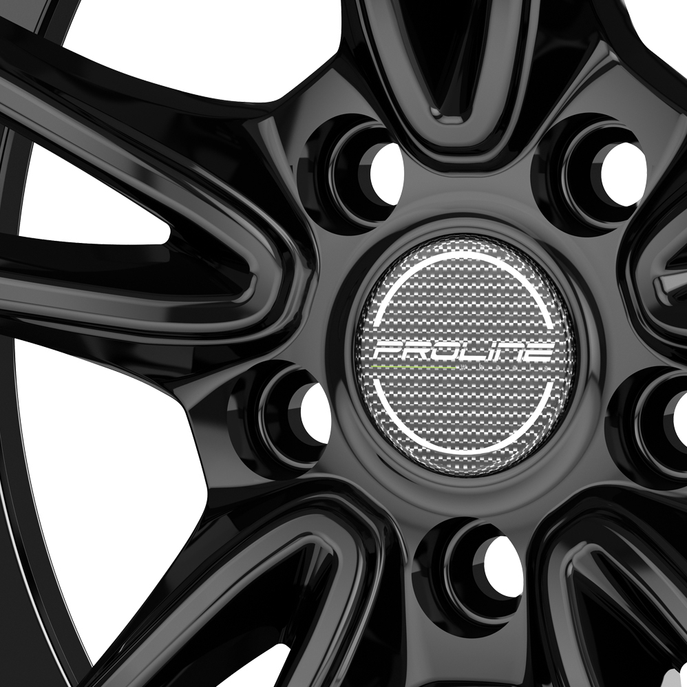 17 Inch Proline CX300 Black Glossy Alloy Wheels