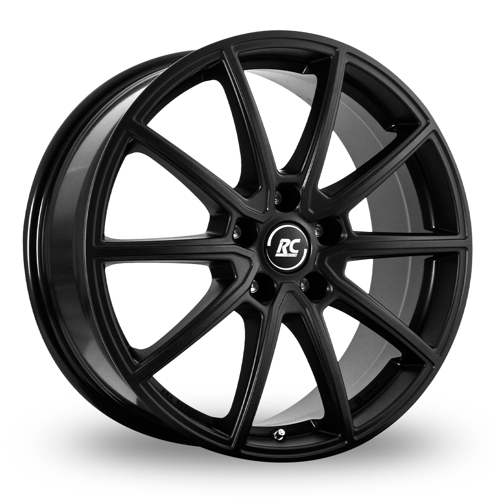 "17"" RC Design RC32 Matt Black Alloy Wheels"