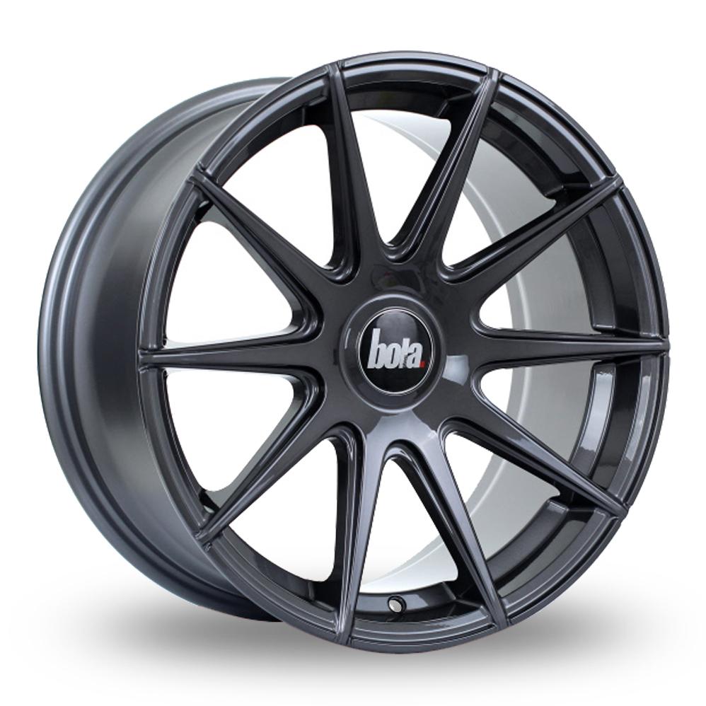 "19"" Bola CSR Gloss Titanium Wider Rear Alloy Wheels"