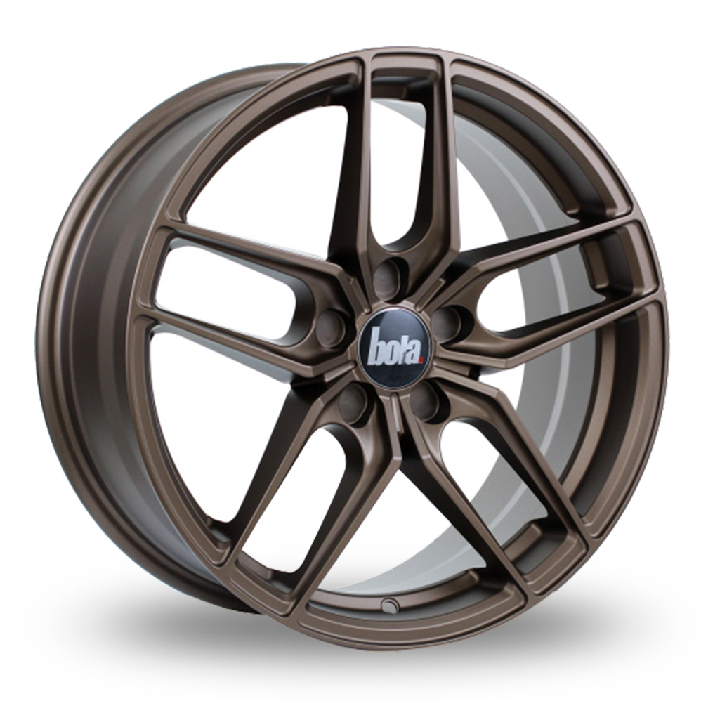"19"" Bola B11 Matt Bronze Wider Rear Alloy Wheels"