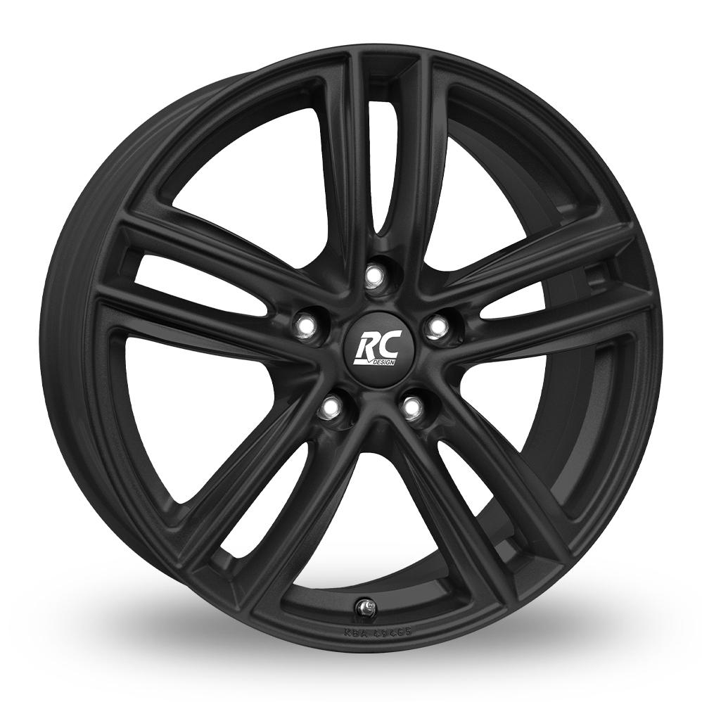 """15"""" RC Design RC27 Matt Black Alloy Wheels"""