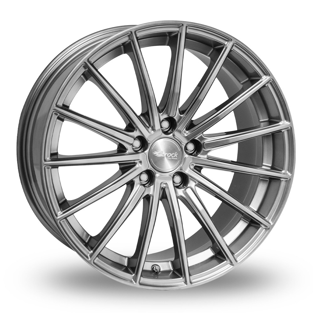 18 Inch Brock B36 Hyper Silver Alloy Wheels