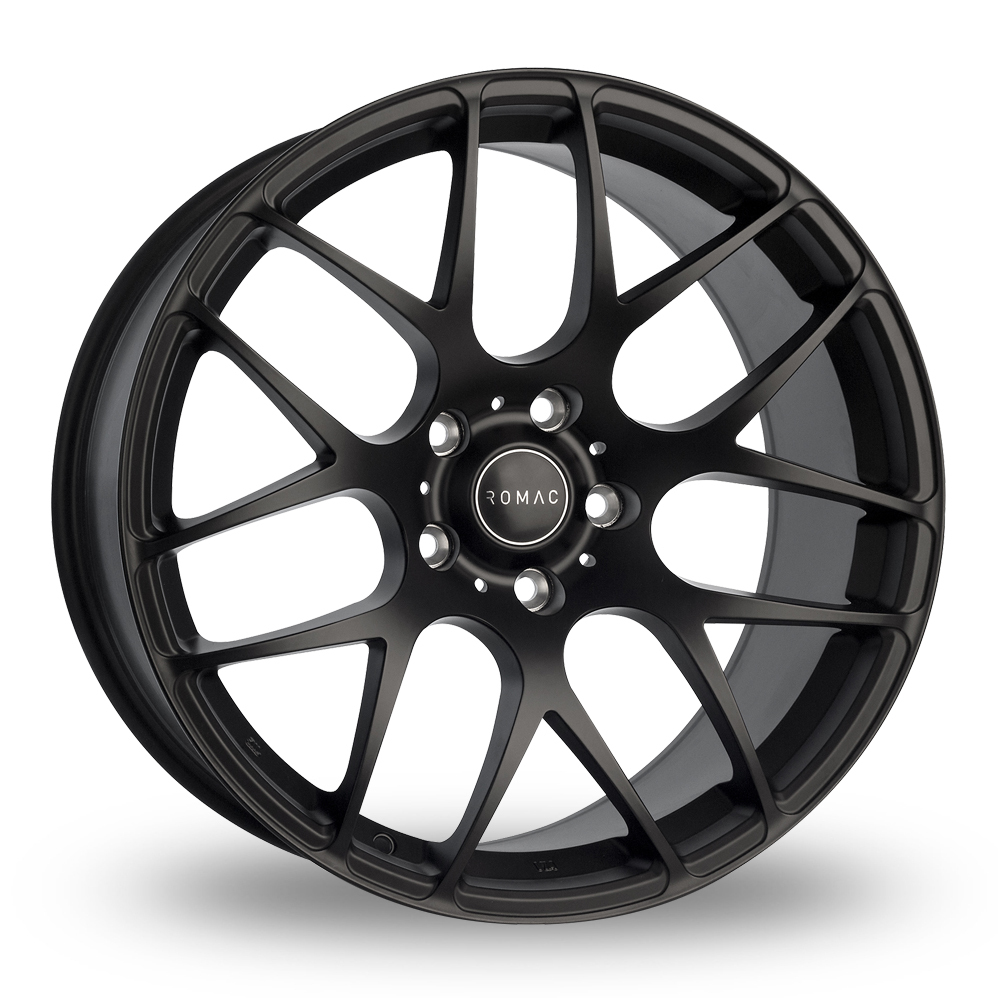 8.5x19 (Front) & 9.5x19 (Rear) Romac Radium Black Alloy Wheels