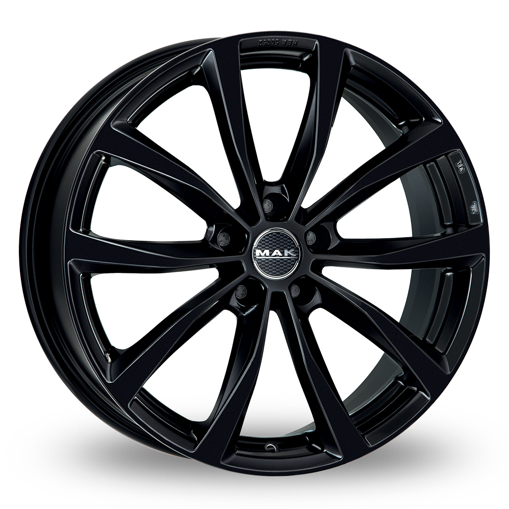 "17"" MAK Wolf Gloss Black Alloy Wheels"