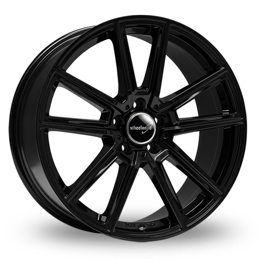 "18"" Wheelworld WH30 Gloss Black Alloy Wheels"