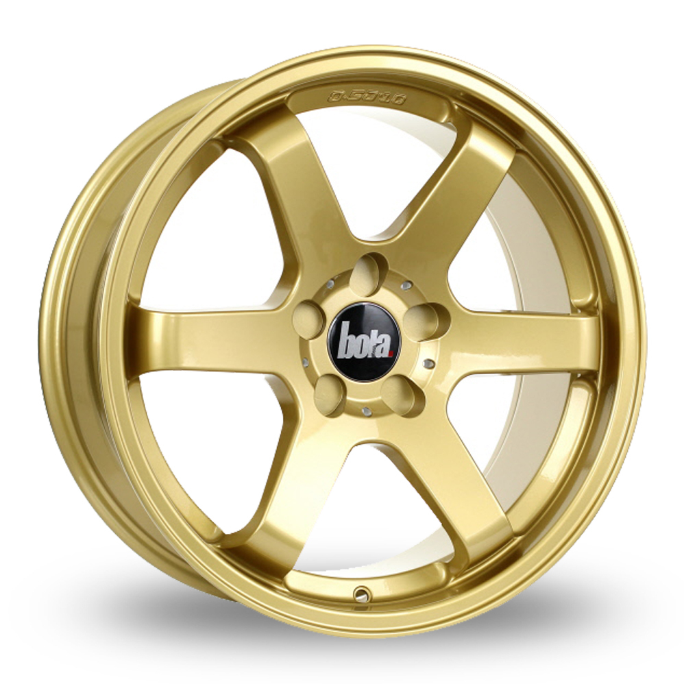 "18"" Bola B1 Gold Alloy Wheels"