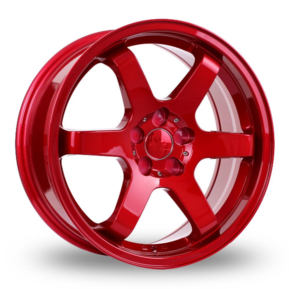 "18"" Bola B1 Candy Red Wider Rear Alloy Wheels"