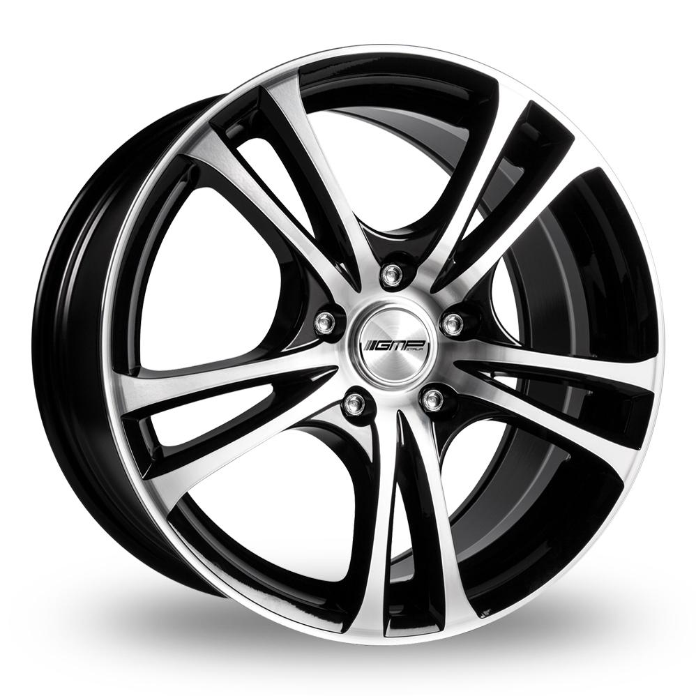 17 Inch GMP Italia Easy-R Black Polished Alloy Wheels