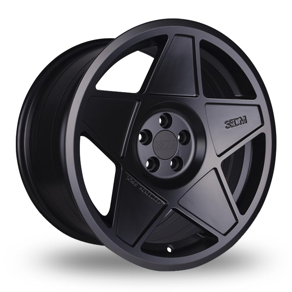 "18"" 3SDM 0.05 Satin Black Wider Rear Alloy Wheels"