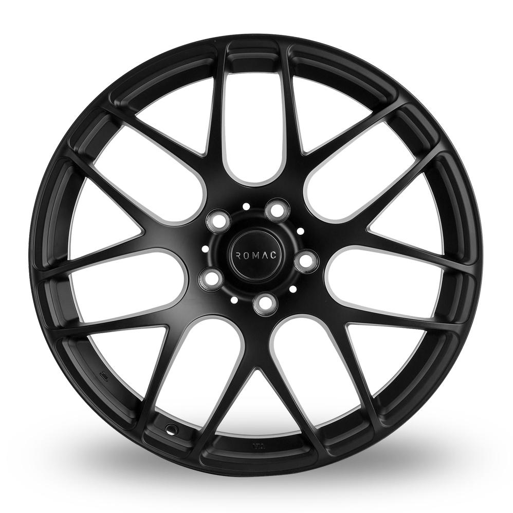 8x18 (Front) & 8.5x18 (Rear) Romac Radium Black Alloy Wheels