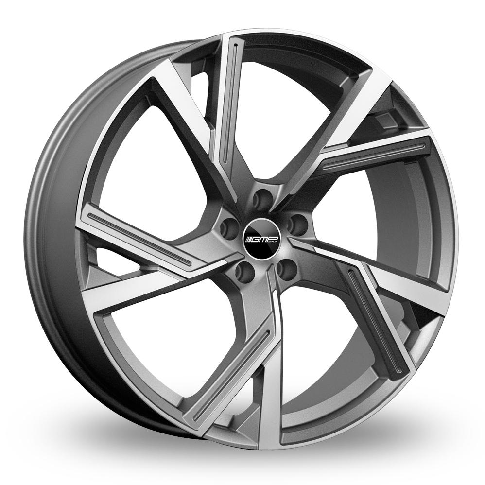 "18"" GMP Italia Angel Matt Anthracite Polished Alloy Wheels"