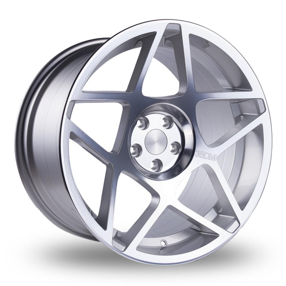 20 Inch 3SDM 0.08 Silver Polished Alloy Wheels