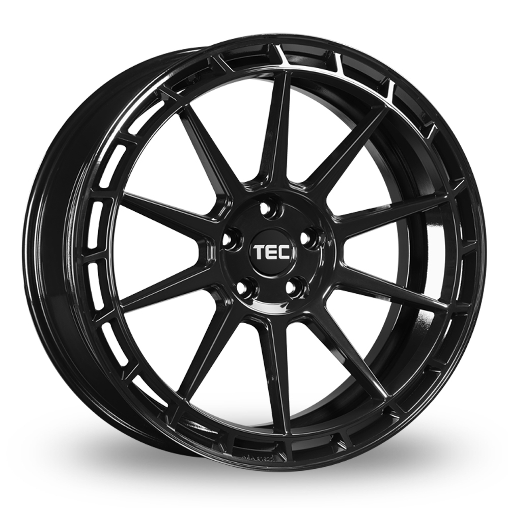 "19"" TEC Speedwheels GT8 Gloss Black Wider Rear Alloy Wheels"