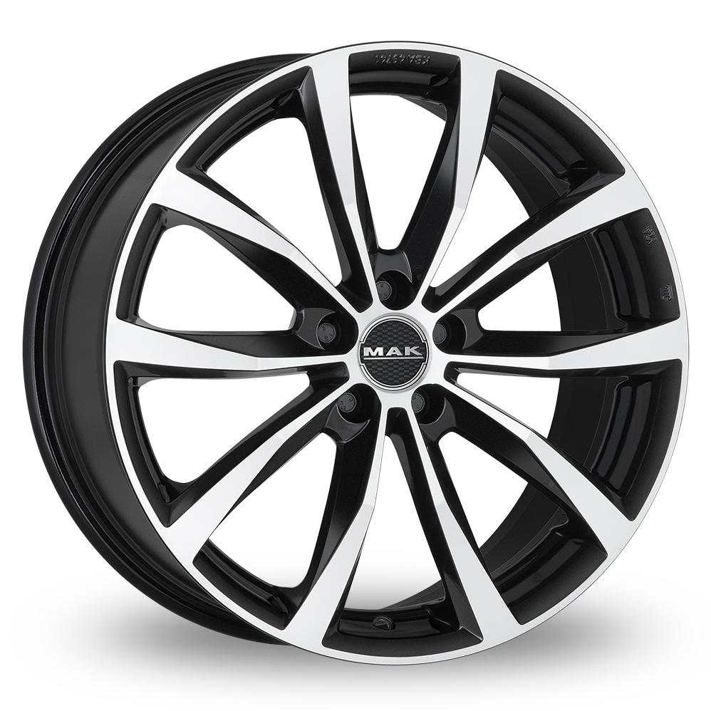 17 Inch MAK Wolf Black Mirror Alloy Wheels