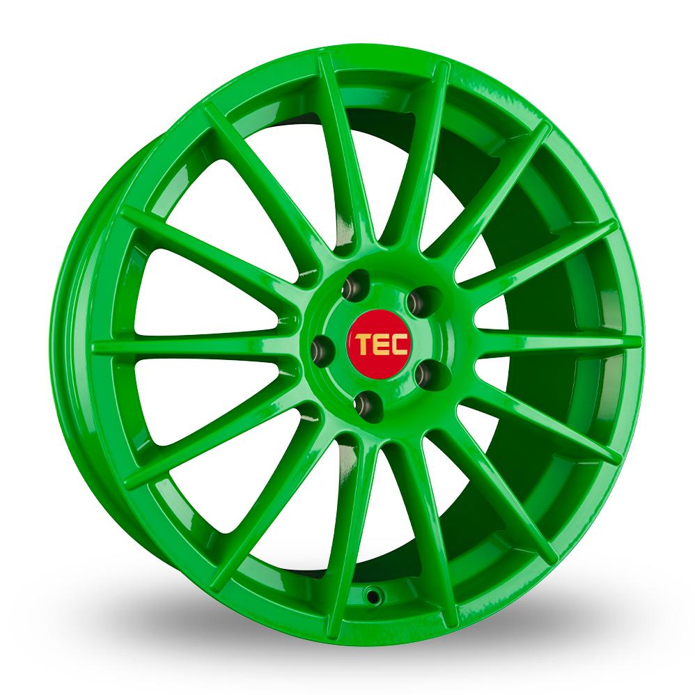 "18"" TEC Speedwheels AS2 Green Alloy Wheels"