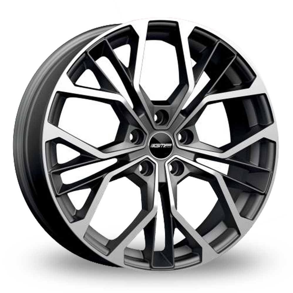 19 Inch GMP Italia Matisse Anthracite Polished Alloy Wheels