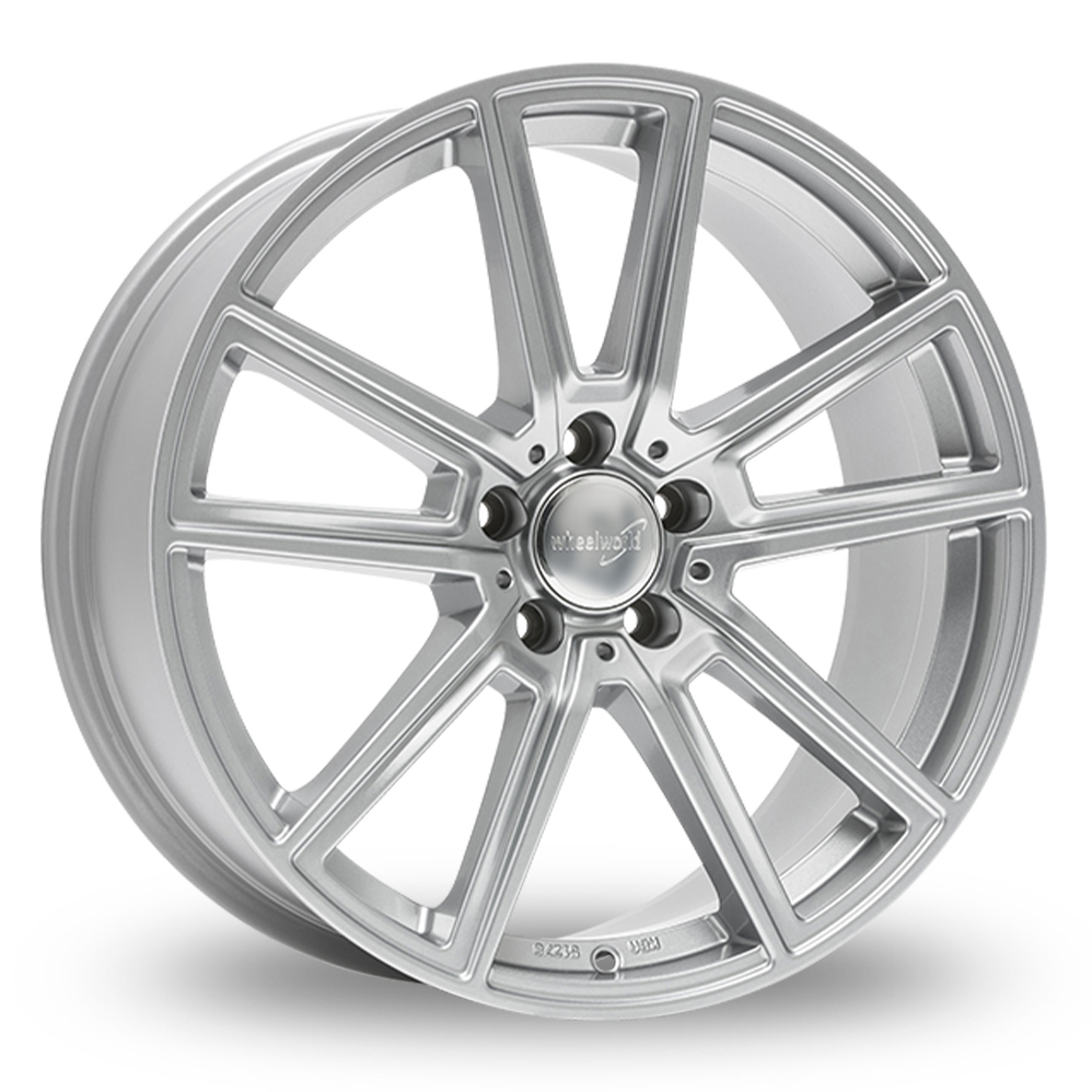 "18"" Wheelworld WH30 Silver Alloy Wheels"