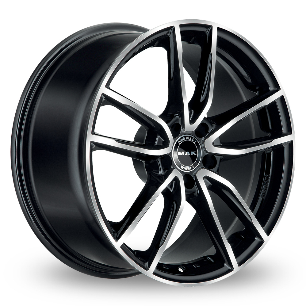 18 Inch MAK Evo Black Mirror Alloy Wheels