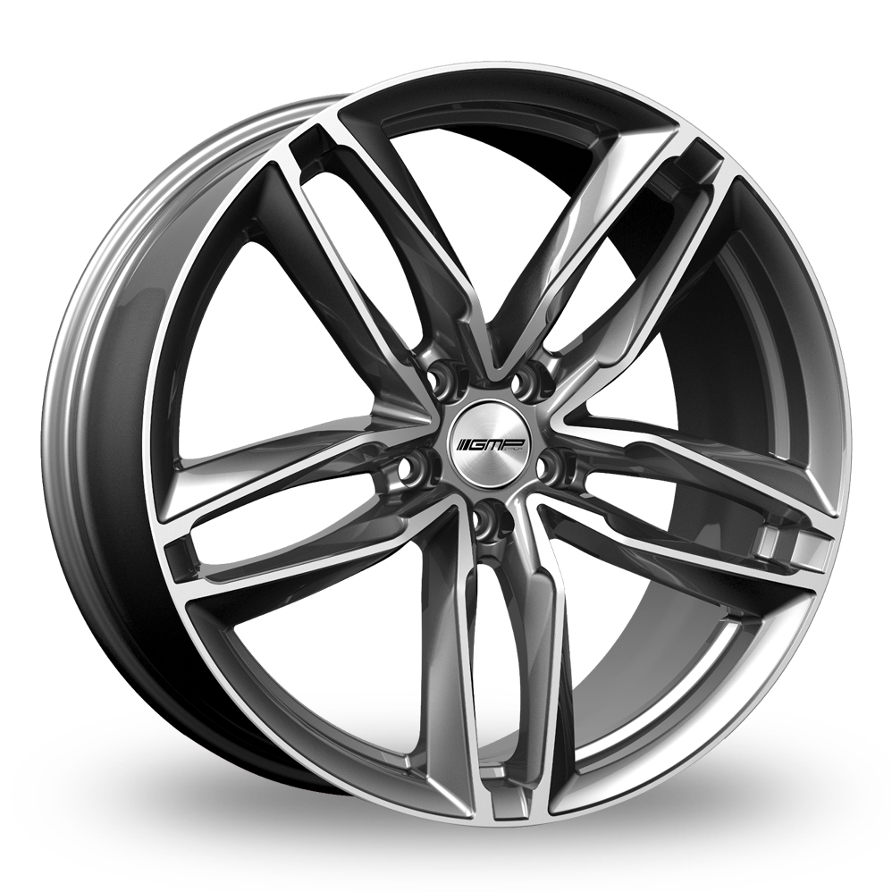 "21"" GMP Italia Atom Anthracite/Polished Wider Rear Alloy Wheels"