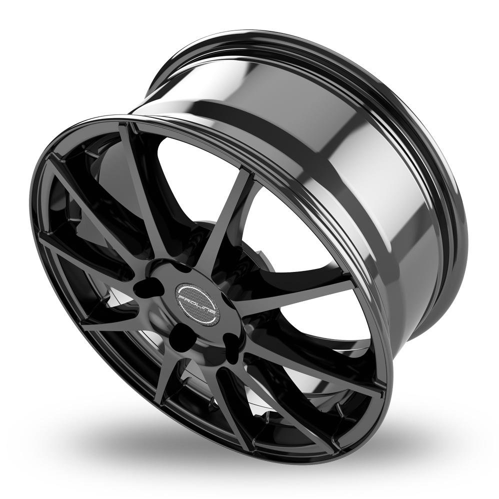 17 Inch Proline UX100 Black Glossy Alloy Wheels