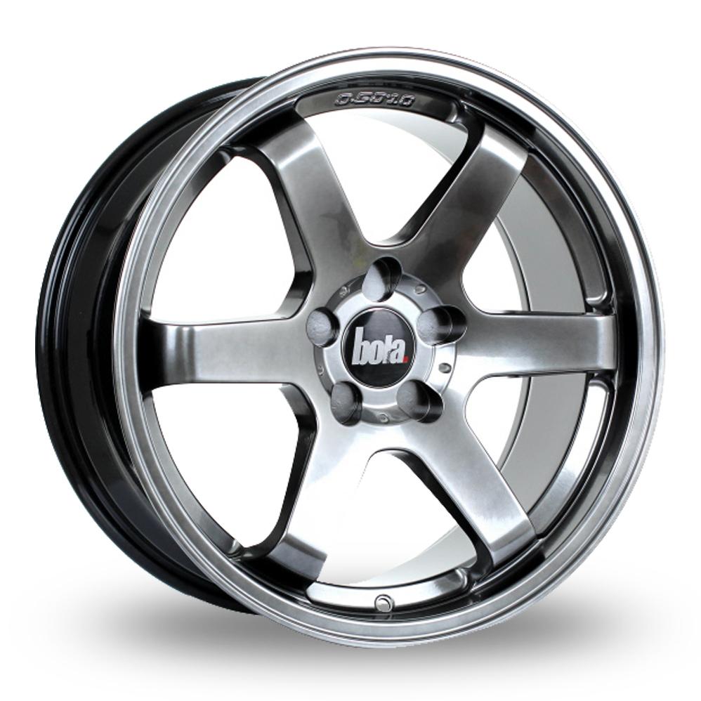 """18"""" Bola B1 Hyper Black Wider Rear Alloy Wheels"""