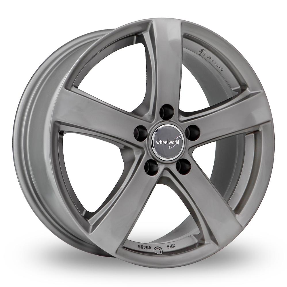 "17"" Wheelworld WH24 Daytona Grey Alloy Wheels"