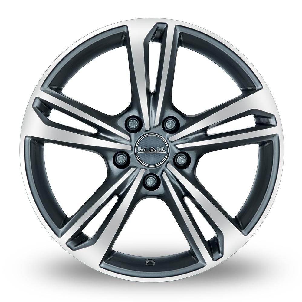 17 Inch MAK Emblema Gun Metal Mirror Face Alloy Wheels