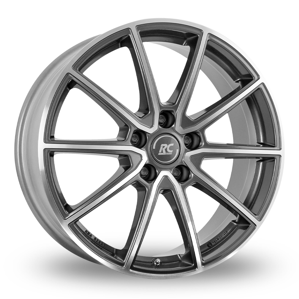 "17"" RC Design RC32 Himalaya Matt Grey Polished Alloy Wheels"