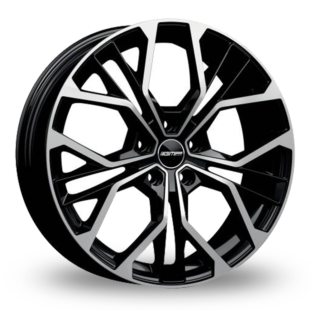 18 Inch GMP Italia Matisse Black Polished Alloy Wheels