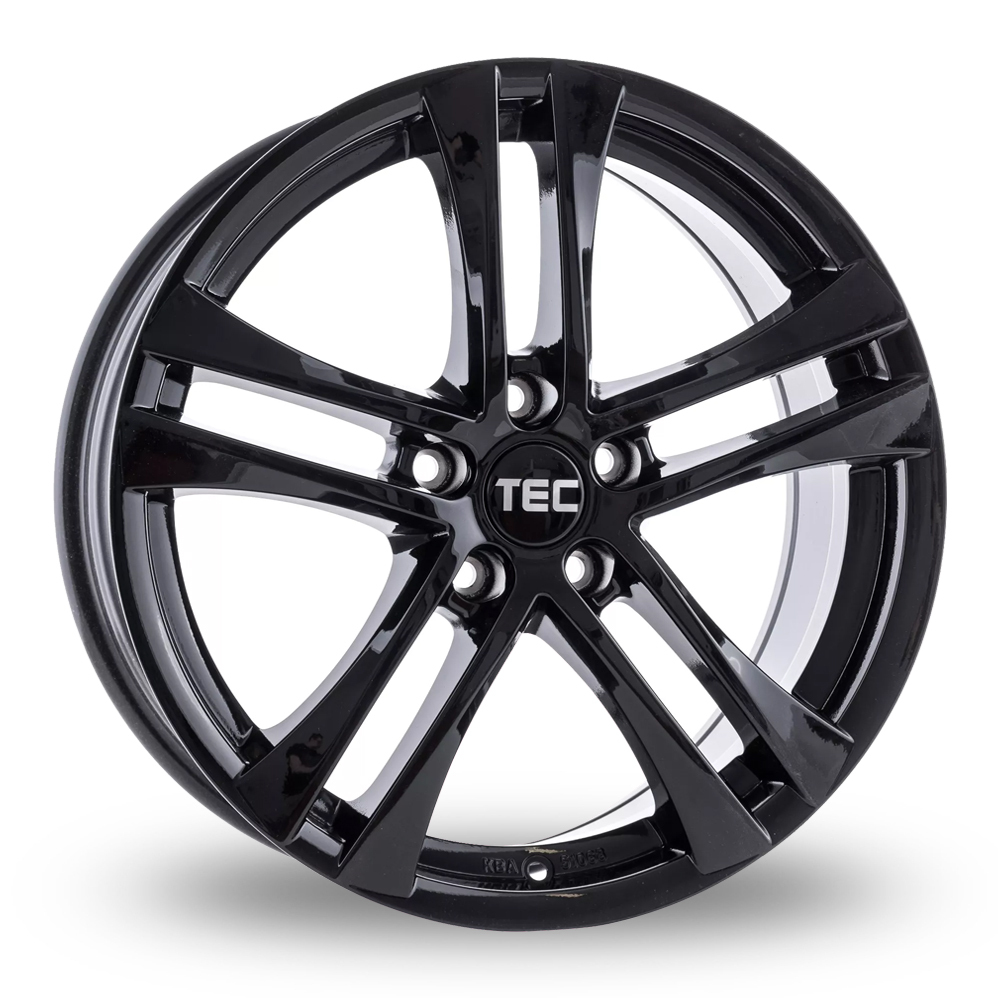 "17"" TEC Speedwheels AS4 Gloss Black Alloy Wheels"