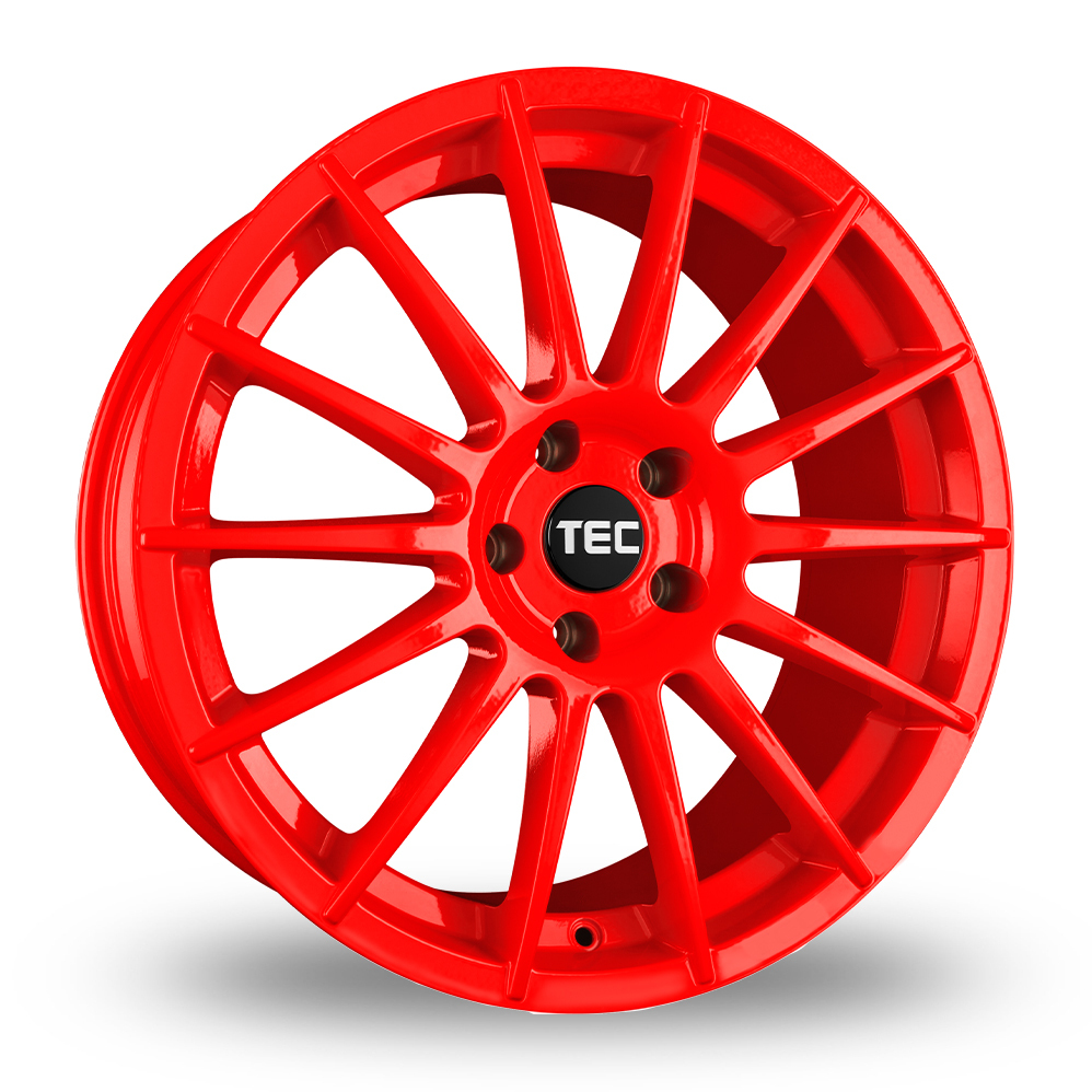 "18"" TEC Speedwheels AS2 Red Alloy Wheels"